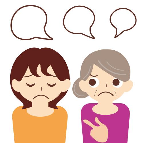 嫁姑問題と離婚のイメージ